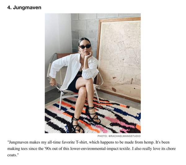 Sustainable Brand Recommendation for Jungmaven