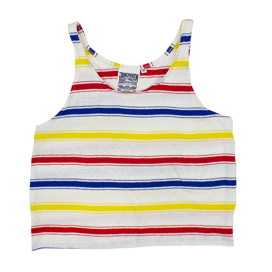 Beach Stripe Cropped Tank - Jungmaven Hemp Clothing