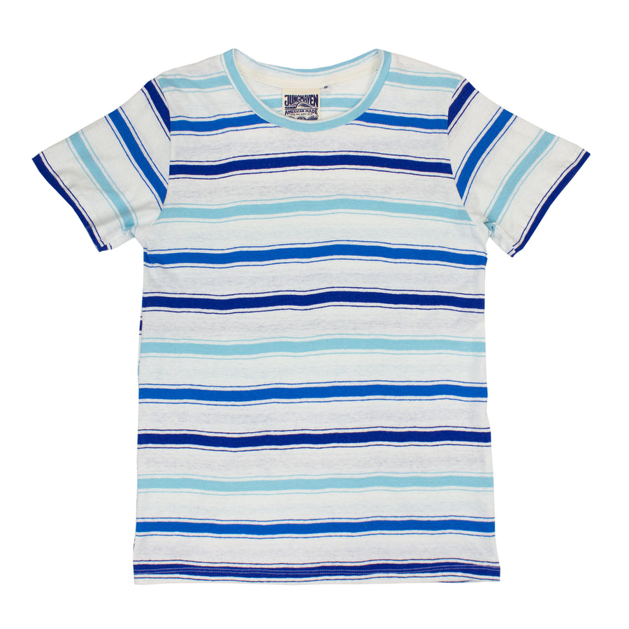 Beach Stripe Lorel Tee - Jungmaven Hemp Clothing