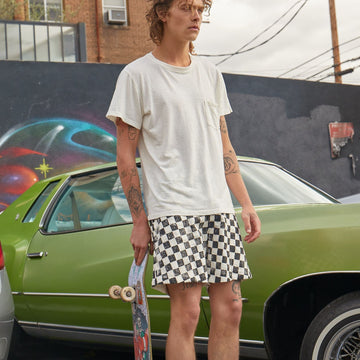 Checkerboard Venice Short - Jungmaven Hemp Clothing
