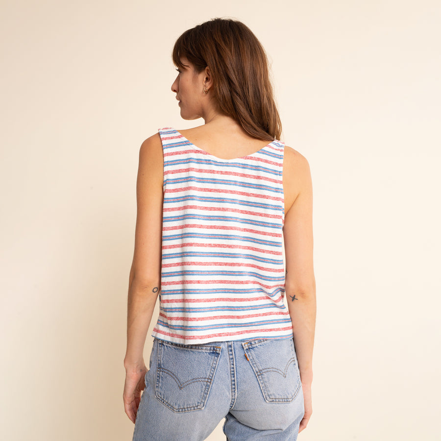 Mountain Stripe Cropped Tank - Jungmaven Hemp Clothing