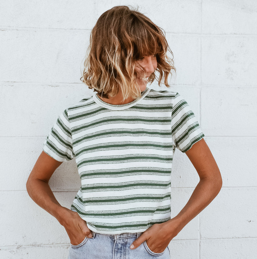 Mountain Stripe Lorel Tee - Jungmaven Hemp Clothing