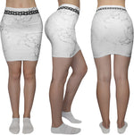 Marble & Chains Pencil Skirt - Ladies - Alpha Mob