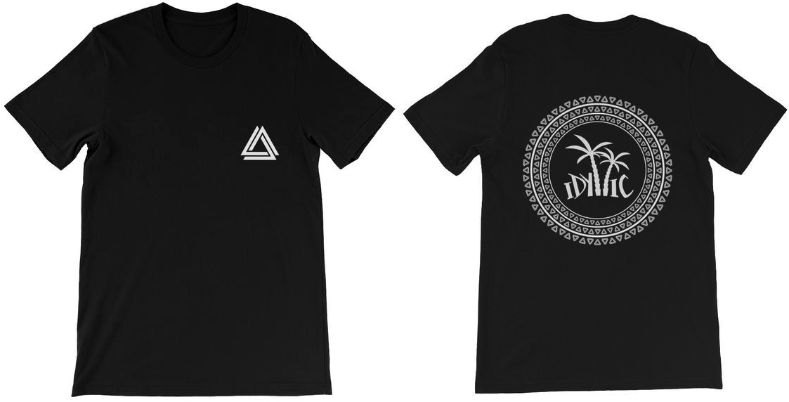 Alpha Mob and Idyllic Entertainment t-shirt collaboration in black