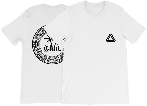 Alpha Mob and Idyllic Entertainment t-shirt collaboration in white
