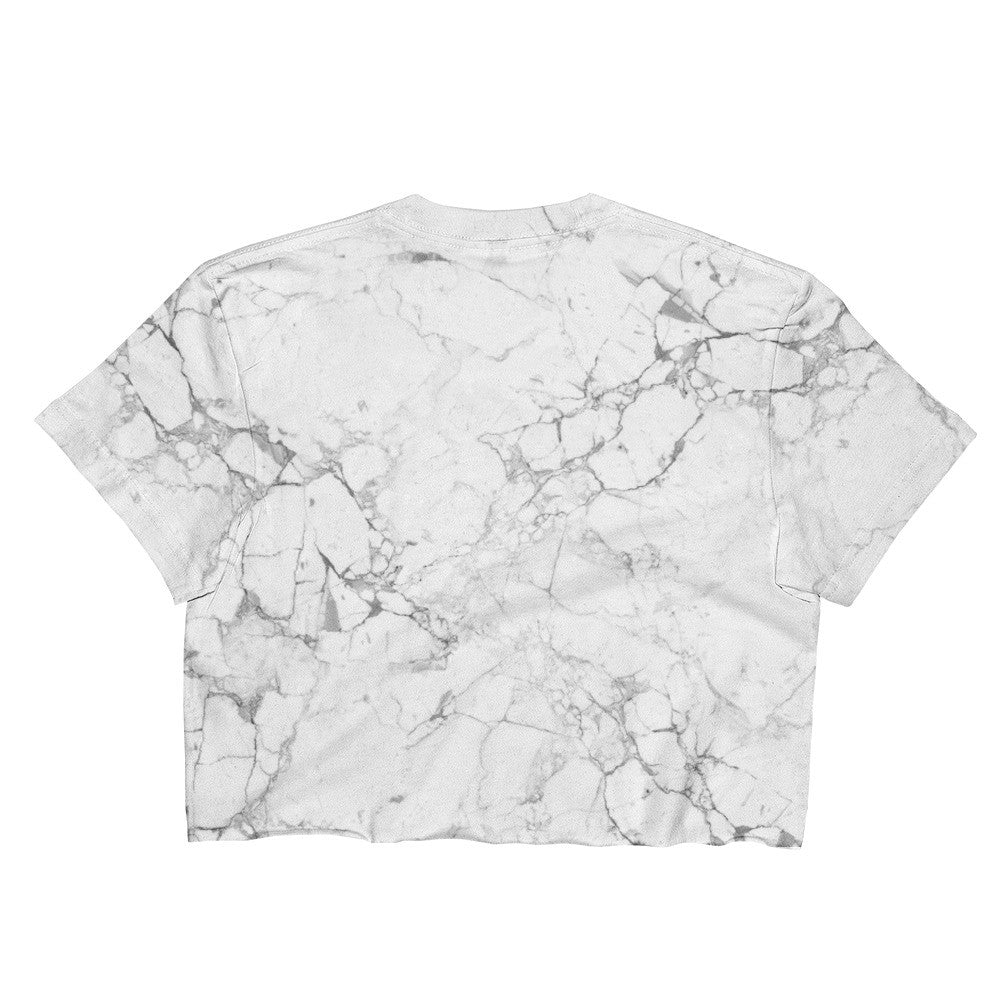 Marble Crop Top - Ladies - Alpha Mob