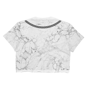 Marble & Chains Crop Top - Ladies - Alpha Mob