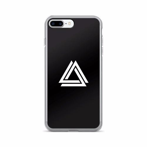 Black iPhone cover with the Alpha Mob Logo on