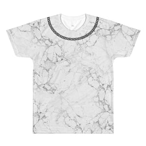 Marble & Chains T-shirt Back Logo - Unisex- Alpha Mob