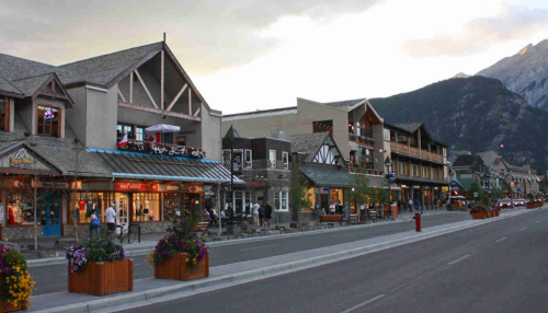 Banff Town Of Downtown 4 Aces Taxi Guide To