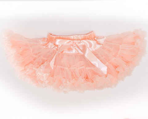 Peach Cotton Candy tutu skirt