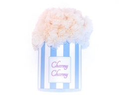 Ivory cotton candy tutu skirt in a hat box by Charmy Charmy