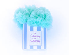 Mint cotton candy tutu skirt in a hat box by Charmy Charmy