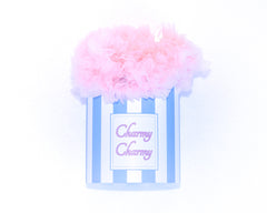Pink cotton candy tutu skirt in a hat box by Charmy Charmy
