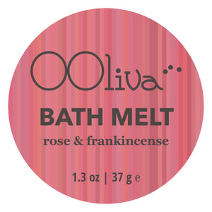 BATH MELT - rose & frankincense