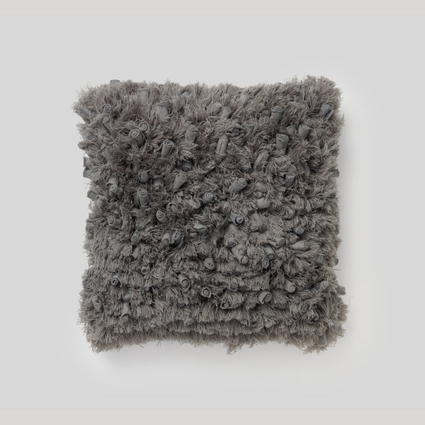 Angel Hair Cushion<br>Steel Grey