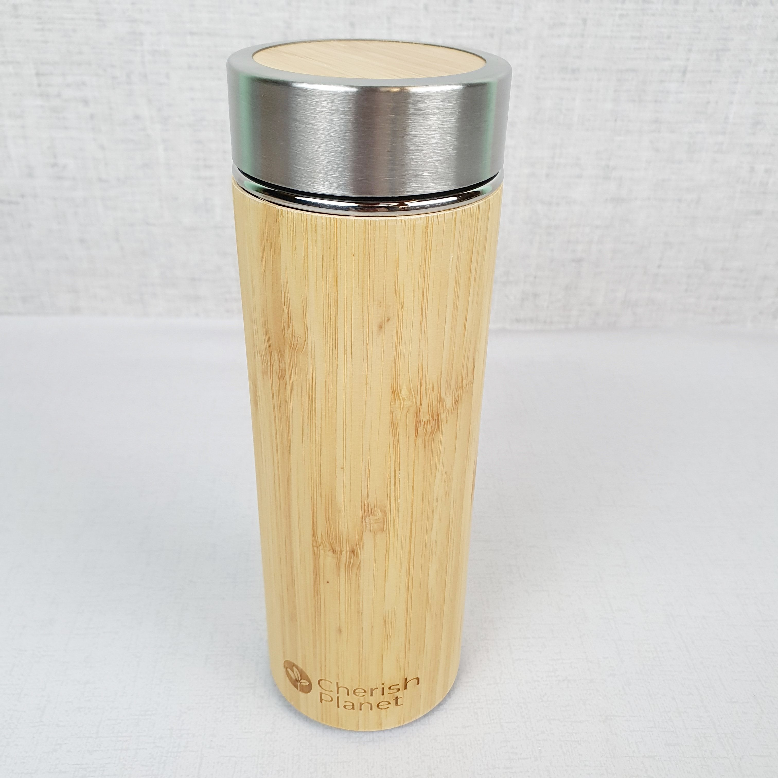 Bamboo & Steel Portable Mug