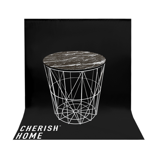 Cherish Home White Wire Side Table With Removable Lid