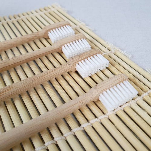 Bamboo Toothbrush - Set of 4 Family Pack