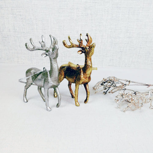 Hanging Gold and Silver Stags