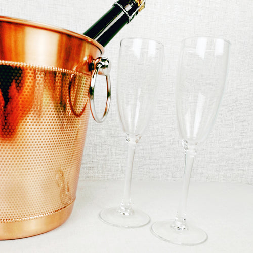 Copper Ice Bucket with Glasses