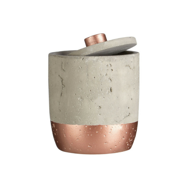 Coral Concrete And Copper Jar