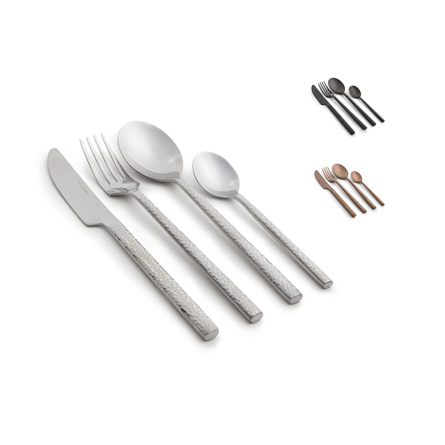 Cultura Cutlery Set Variations Silver Copper Matt Black