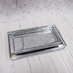 Decorative Nickel Trays - Mirror Effect Rectangular Silver