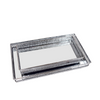 Decorative Nickel Trays - Mirror Effect Rectangular Silver Set of 2