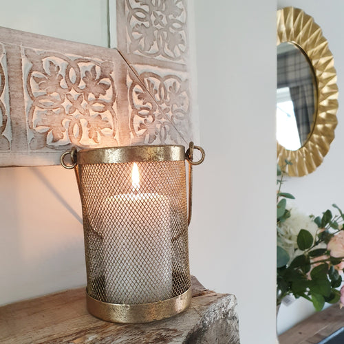 Gold Genus Candle and Tea Light Holder