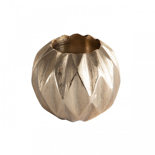 Diamond Ball tea Light Holder Gold