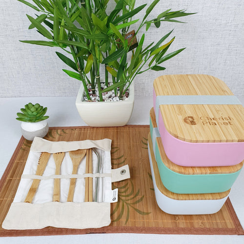 Bamboo & Steel Portable Cutlery Set