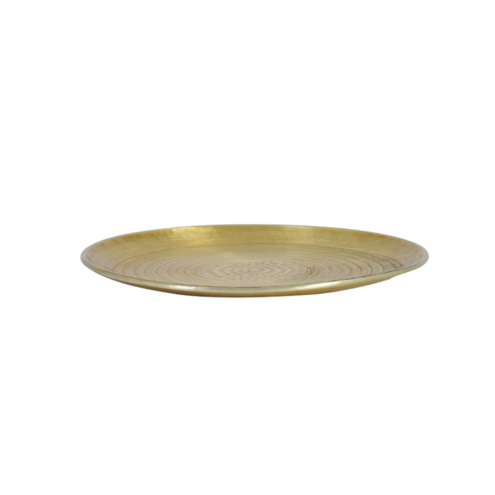 Fortitudo Gold Decorative Dish - 48cm