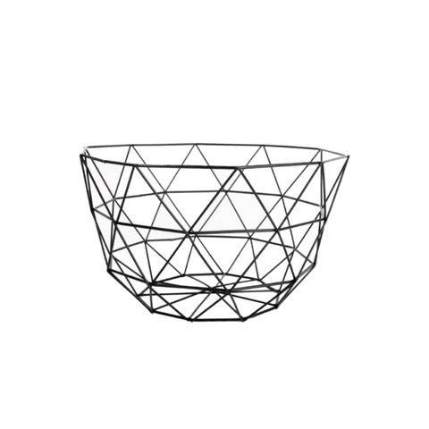 Rectangle Black Retro Wire Storage Baskets