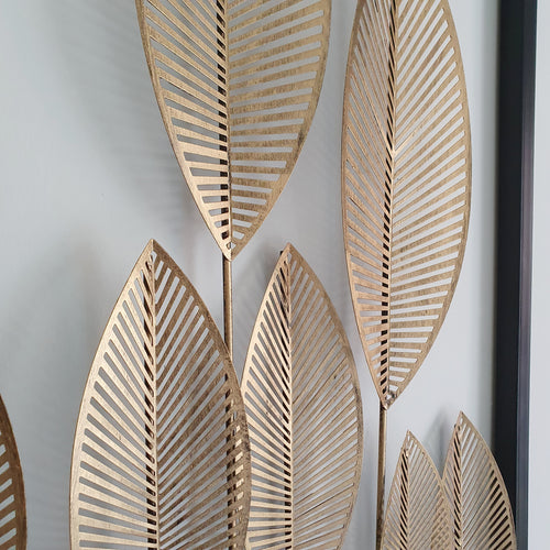 Gold Metal Leaf Wall Decoration