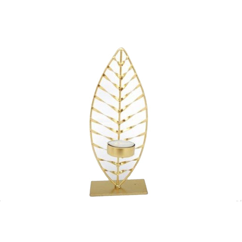Golden Leaf Tea Light Holder