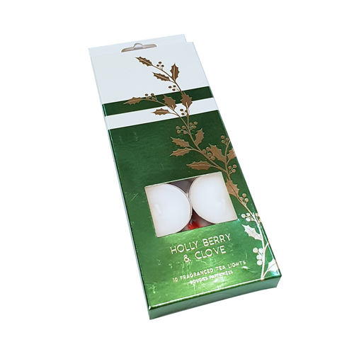 Holly Berry & Clove Christmas Tea Lights x 10
