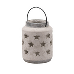 Stoneware Style Star Candle Lantern Large Version
