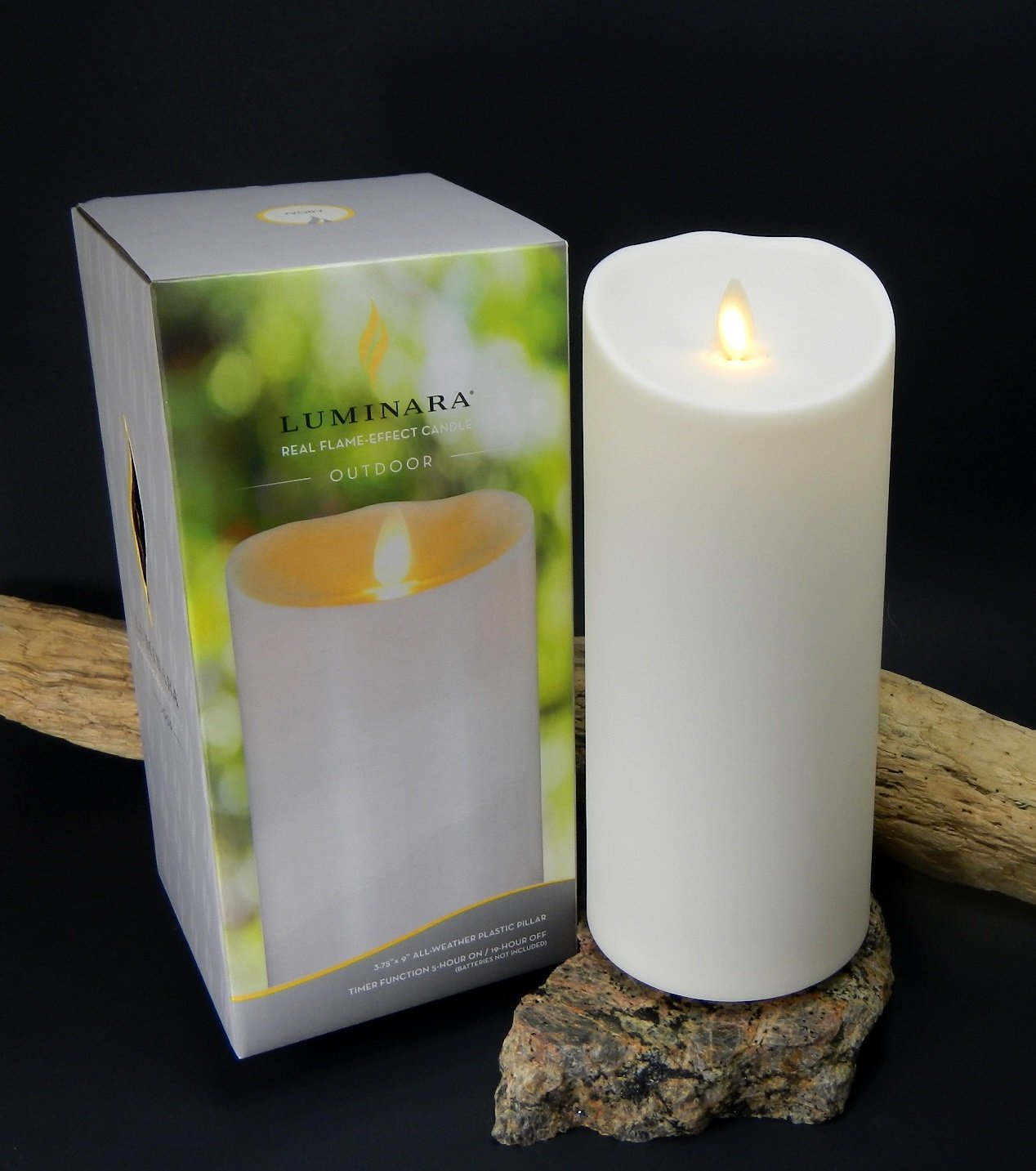 Luminara outdoor candle with box