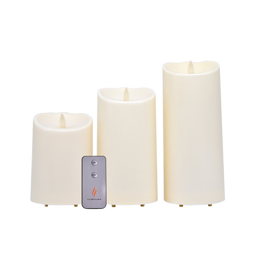 Luminara outdoor candle set with remote control
