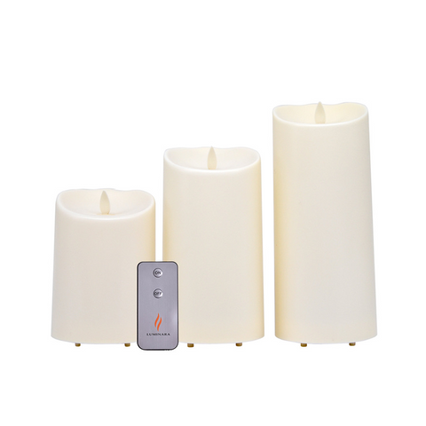 Stunning Luminara Flame Effect Battery Candles