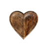 Mango Wood Heart Fruit Bowl