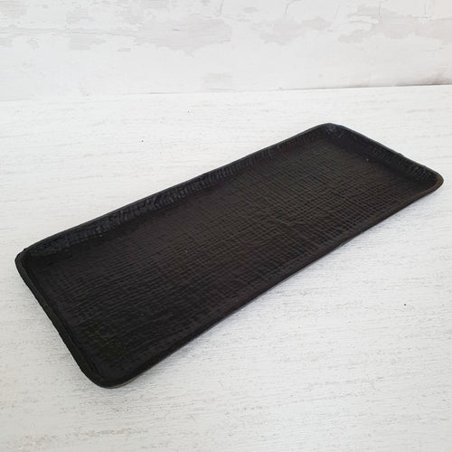 Textured Black Display Tray