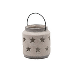 Stoneware Style Star Candle Lantern Medium version 1