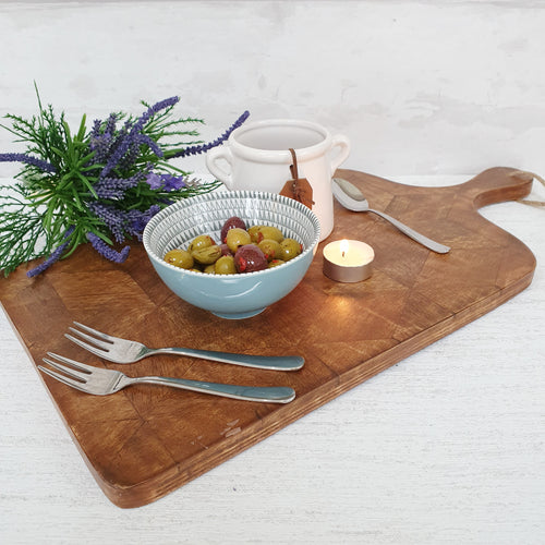 Wooden Patterned Rectangular Serving and Chopping Boards