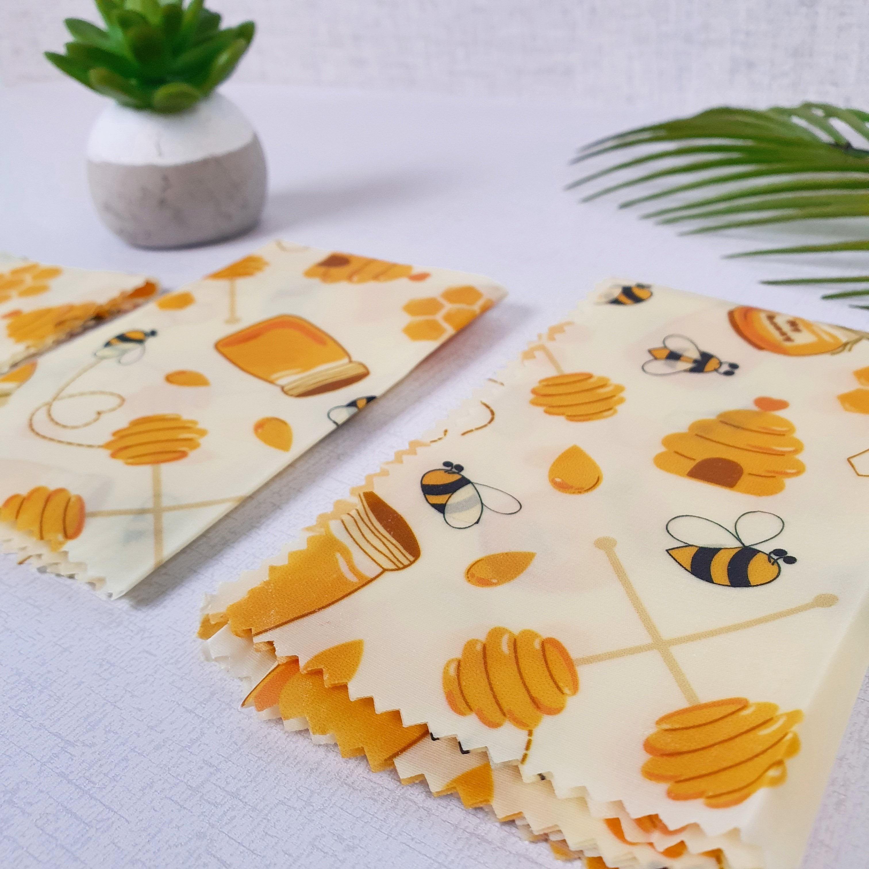 Natural Beeswax Sandwich Wrap Set Small Medium Large