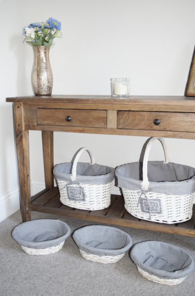 Neat & Tidy Round Lined Willow Baskets
