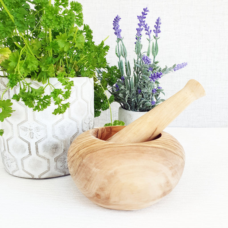 Olivio Wooden Pestle and Mortar