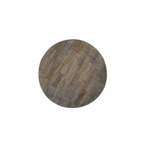 Round Ambata Weathered Wood & Antique Grey Side Table