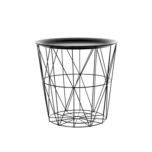 Round Geometric Tray Table